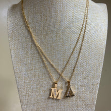 Load image into Gallery viewer, Letter  M & A Pendant Necklace