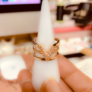 Rose Gold Letter Ring