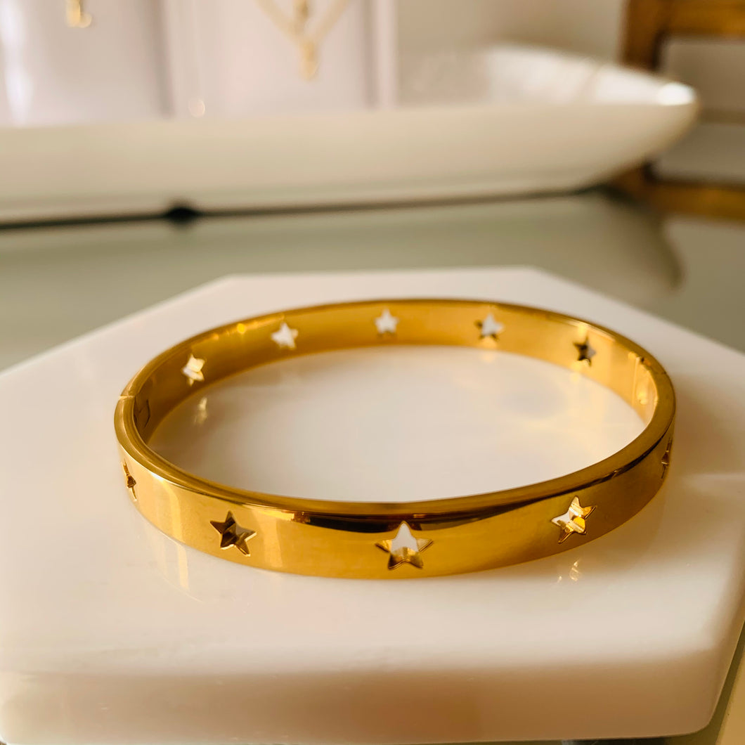 Star Stainless Steel Bangle