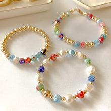 Load image into Gallery viewer, Set of three Glass Beads Bracelet