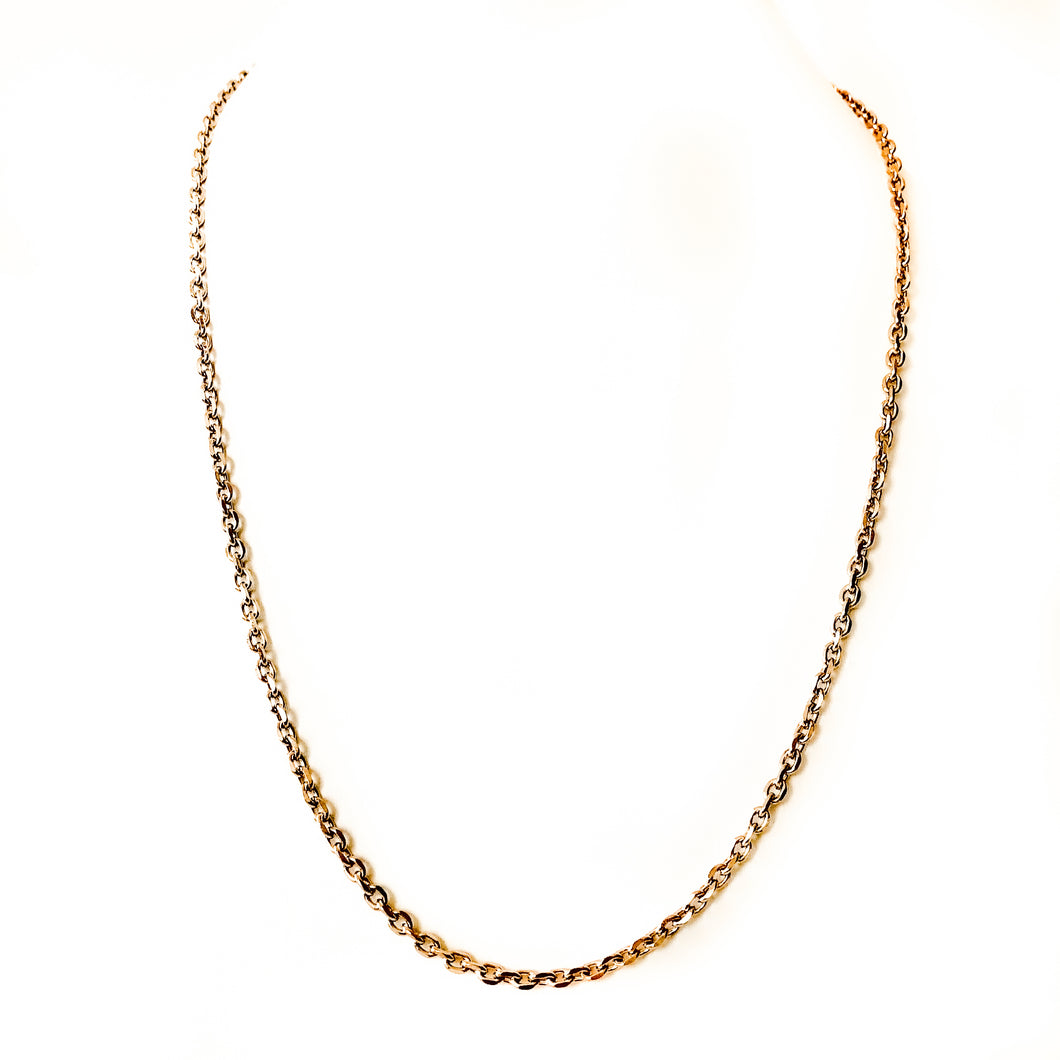 Stainless Steel Cable Chain Necklace