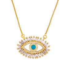 Load image into Gallery viewer, Blue Eye Pendant Necklace
