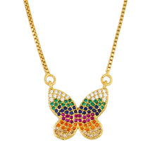 Load image into Gallery viewer, Colorful Butterfly Necklace