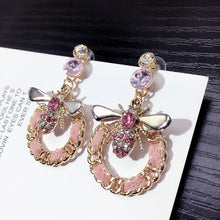 Load image into Gallery viewer, Black & Pink  Earrings