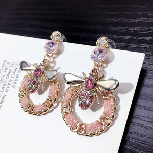 Black & Pink  Earrings