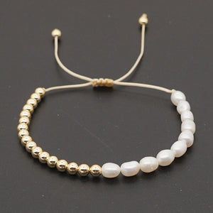 Pearl & Gold Beads Bracelet