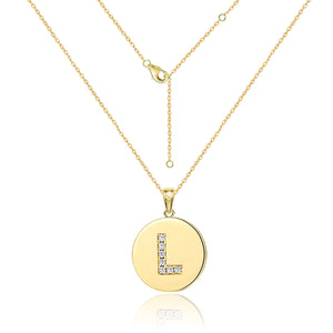 Choker Letter Pendant Necklace