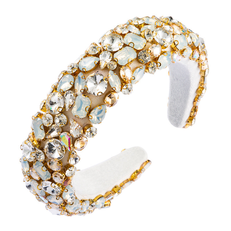Luxury Baroque Rhinestone Headband-Women