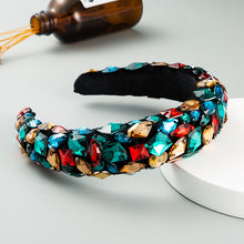 Load image into Gallery viewer, Baroque Gold Velvet Headband and color Full Diamonds-Women