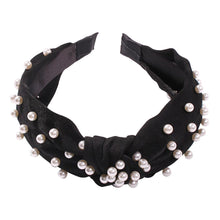 Load image into Gallery viewer, Cross pearl fabric headband-Women