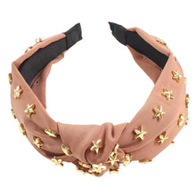 Load image into Gallery viewer, Knotted Headband Five-pointed Star-Fabric -Headband-Women