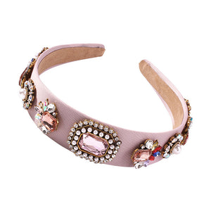 Headband Colors-Pearl & Inlaid Glass Drill-Women