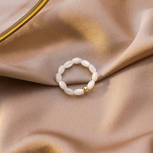 Load image into Gallery viewer, Shell Pearl Ring-women