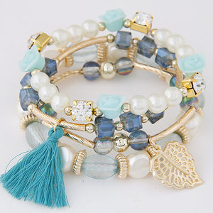 Multilayer Crystal Beads Bracelet-women