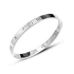 Silver Stainless Steel Bangle