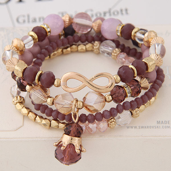 Crystal Mix And Match Fashion Bracelet-Women