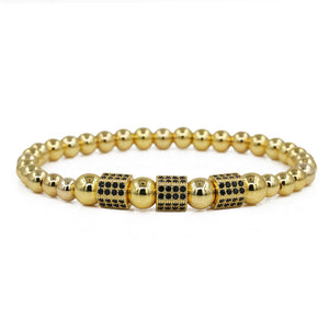 Crown King 18K  Beads Bracelet Luxury Charm Bangle