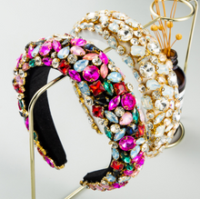 Load image into Gallery viewer, Luxury Baroque Rhinestone Headband-Women