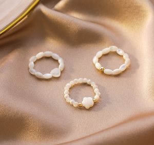 Shell Pearl Ring-women