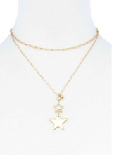 Load image into Gallery viewer, Double Star Pendant Necklace