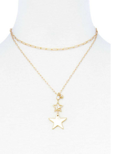 Double Star Pendant Necklace