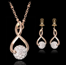 Load image into Gallery viewer, Inlaid Stones Necklace & Earrings Sets ( 18k Alloy )