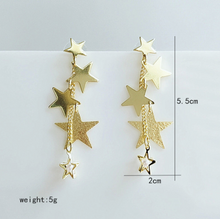 Load image into Gallery viewer, Golden Star Earrings