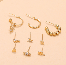 Load image into Gallery viewer, Nine Piece set Earrings