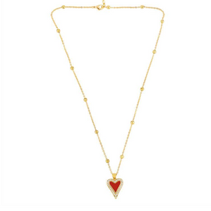18k necklace with heart pendant