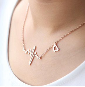 Heart Frequency Pendant Necklace