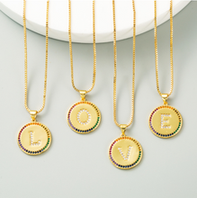 Load image into Gallery viewer, Alphabet & Rainbow Pendant Necklace