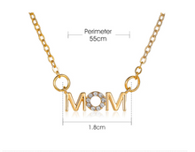Load image into Gallery viewer, Mini Mom Pendant Necklace