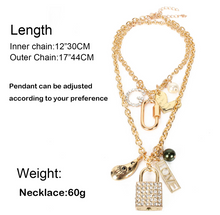 Load image into Gallery viewer, Gold Pendants & double Necklace