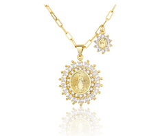 Load image into Gallery viewer, 18K Gold Miraculous Mary Necklace