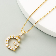 Load image into Gallery viewer, G Initial Necklace