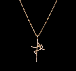 14K Gold Fe Initial Necklace