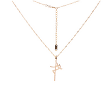 Load image into Gallery viewer, 14K Gold Fe Initial Necklace