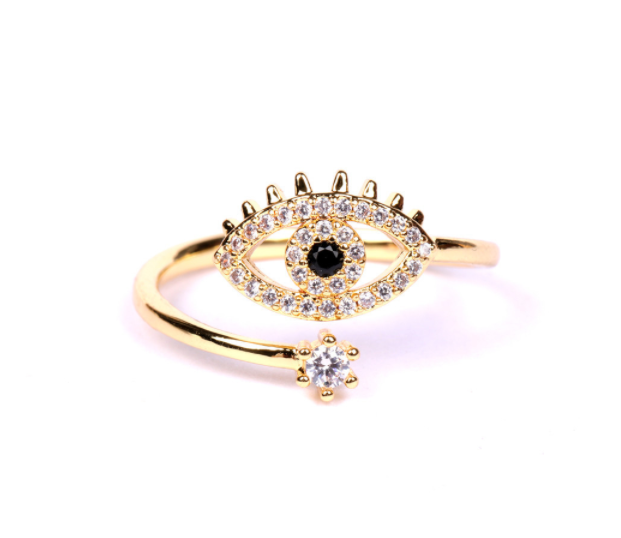 Zircon Evil Eye Ring