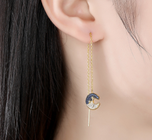 Blue Moon Earring