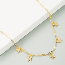 Load image into Gallery viewer, Butterfly Paperclip Chain Necklace