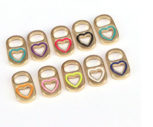 Heart Soda Caps Charms