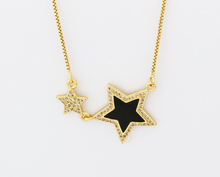 Load image into Gallery viewer, Colored Star Pendant Necklace