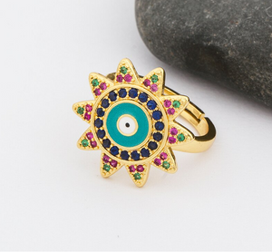 Colorful Ojitos Ring