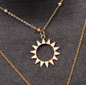 Stainless Steel Solar Necklace