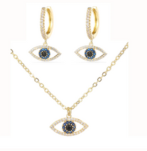 Load image into Gallery viewer, 18K Necklace & Earrings Set