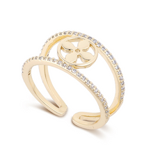Load image into Gallery viewer, Zircon & Love Clover Rings