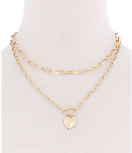 Double Layered Heart Necklace