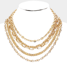Load image into Gallery viewer, Multiple layers & Chain Necklace