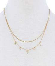 Load image into Gallery viewer, Crosses & Double Chain Necklace