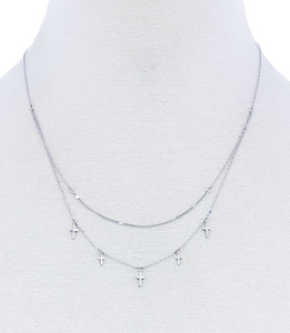 Crosses & Double Chain Necklace